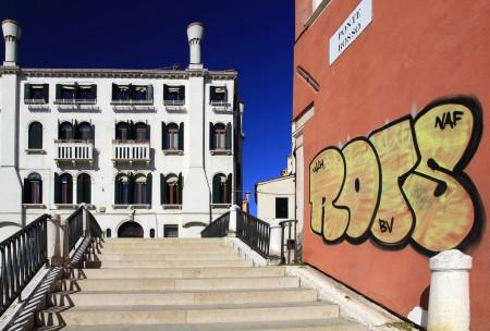 Venetien, Venedig, Dorsoduro, Fondamenta Rossa, Graffito, Brücke,